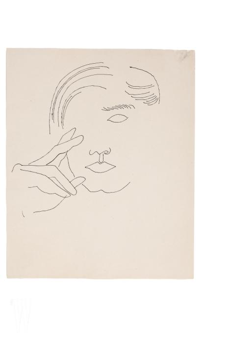 1950년대에 그린 자화상.